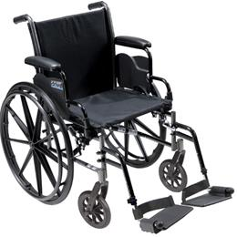 K3 Wheelchair Ltwt 20 wDDA & S/A Footrests Cruiser III