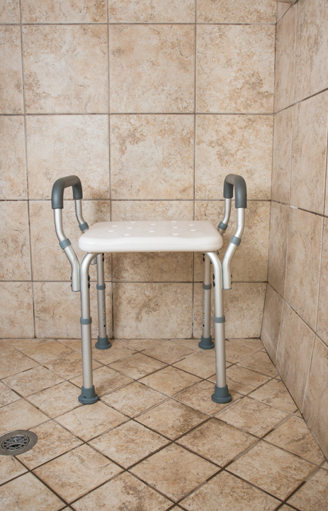 Deluxe Shower Benches with Arms